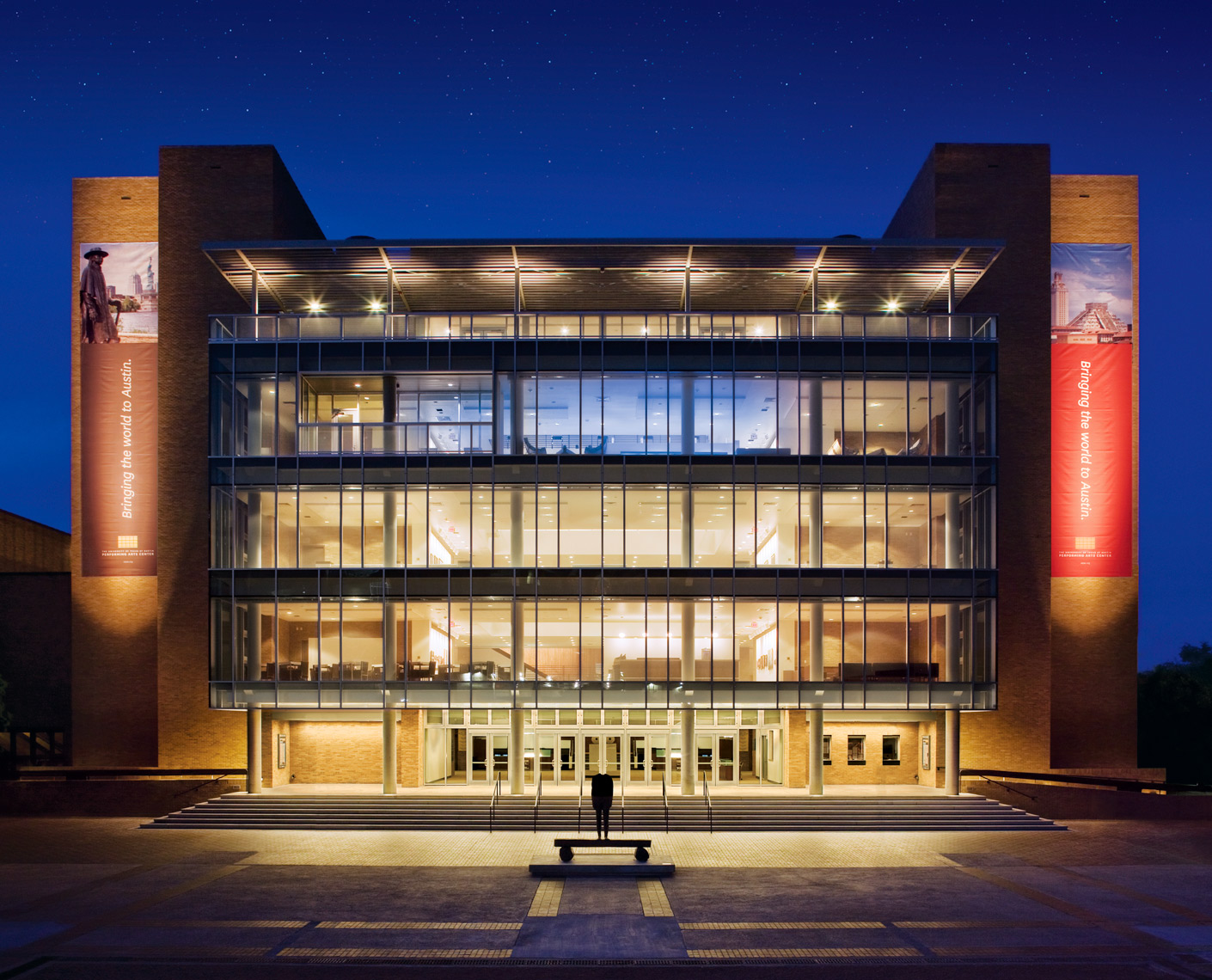 Bass Concert Hall at night | University of Texas Austin | Park Street Photography