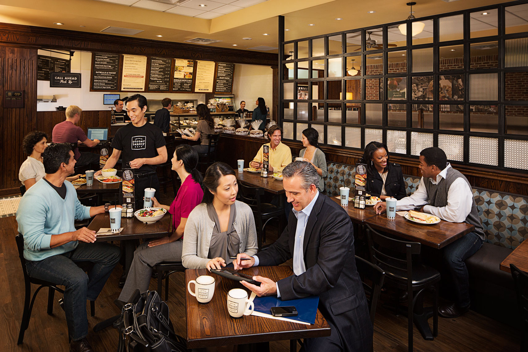 Advertising photograph for Corner Bakery | Park Street Photography